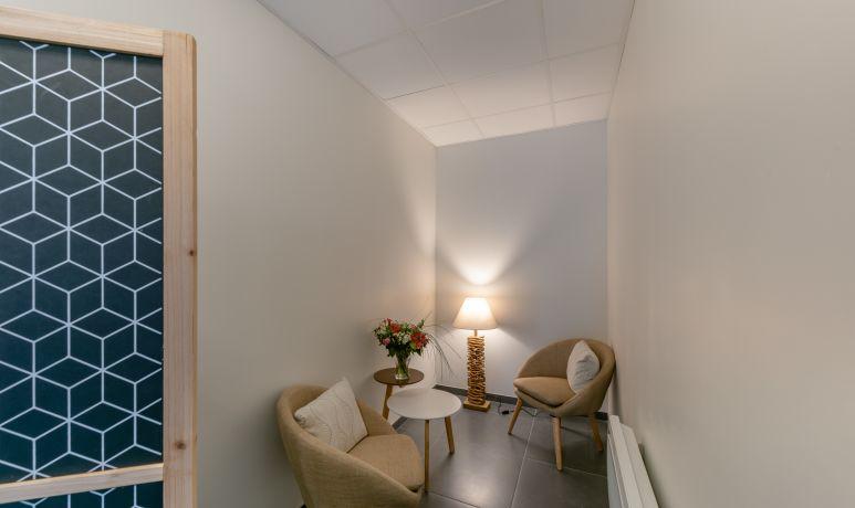 salle d'attente MademoisellA institut de beauté à Rezé Label qualité